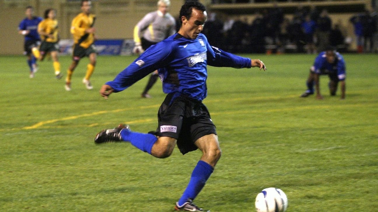 Landon Donovan scored to help spark a miraculous comeback for San Jose against the Galaxy in the 2003 MLS playoffs.