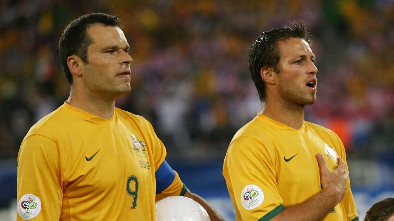 Mark Viduka and Lucas Neill