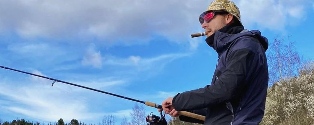 Nicklas Bendtner fishing