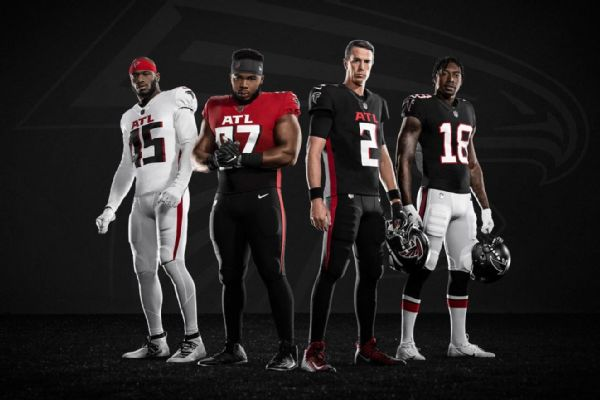 Back to black: Falcons break out new uniforms