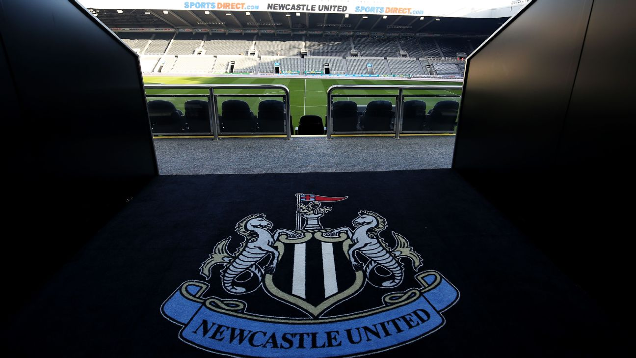 General view inside the St. James' Park stadium