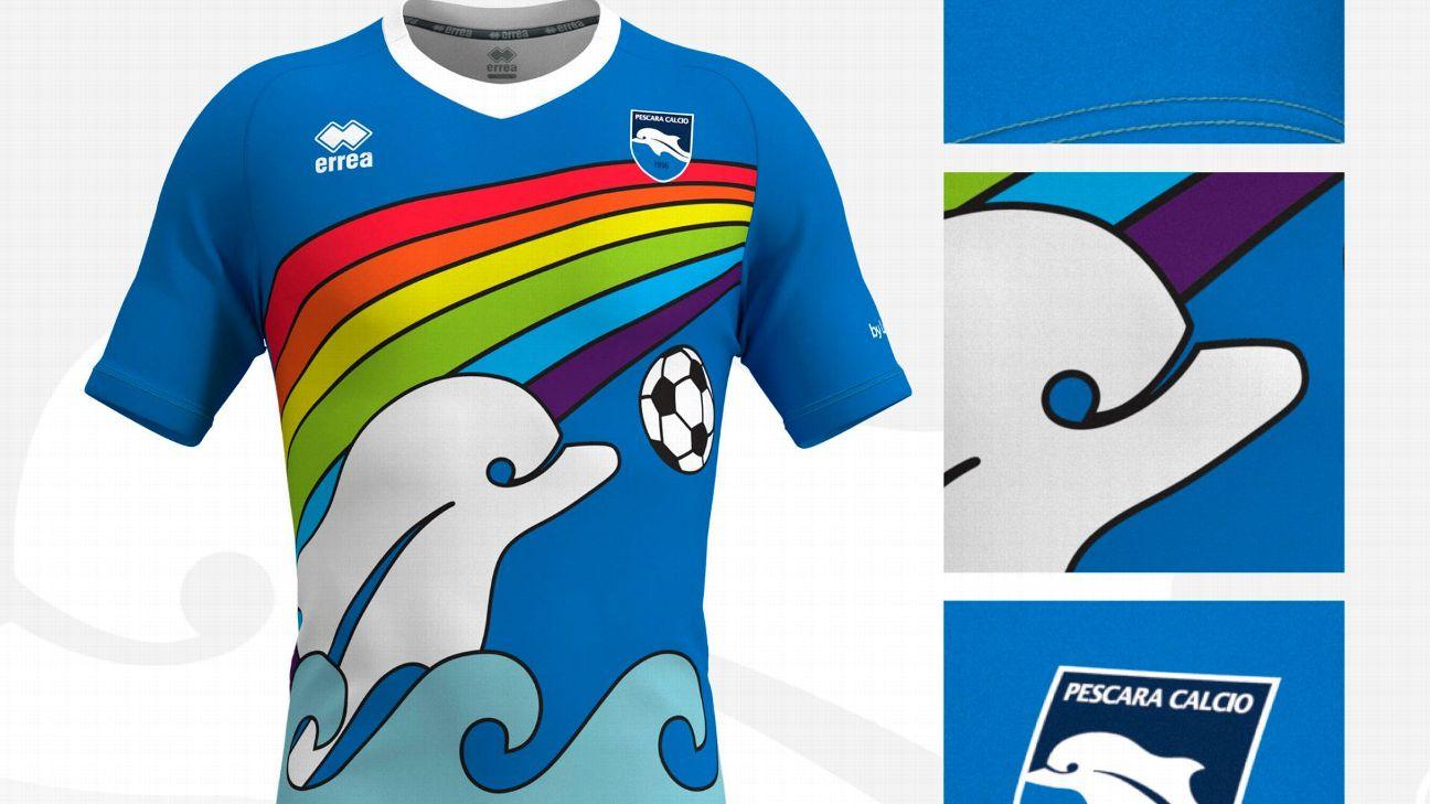 Pescara Calcio's new kit