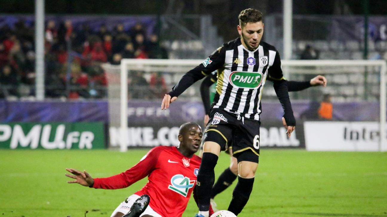 Angers midfielder Farid El Melali was charged with sexual exhibition by the city's local police on May 5.