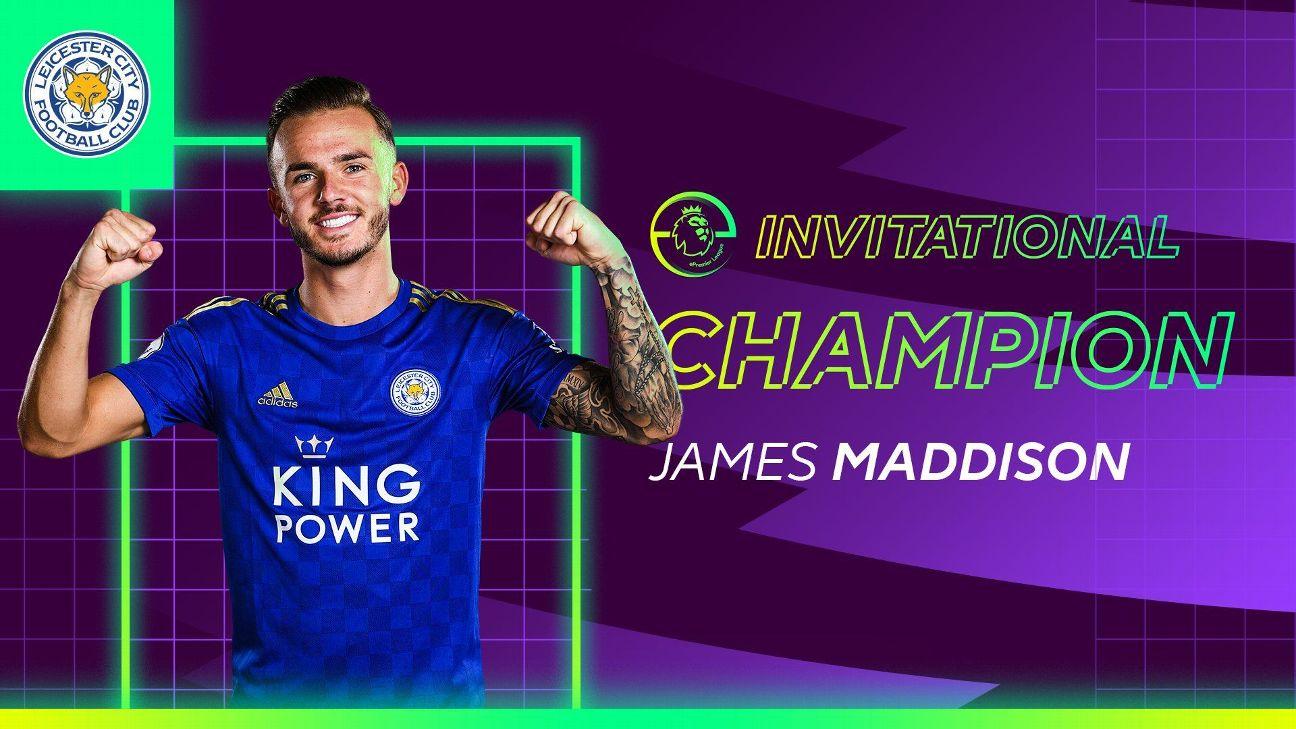 James Maddison Leicester Win Epremier League Invitational With Big Win Vs John Egan Sheffield United