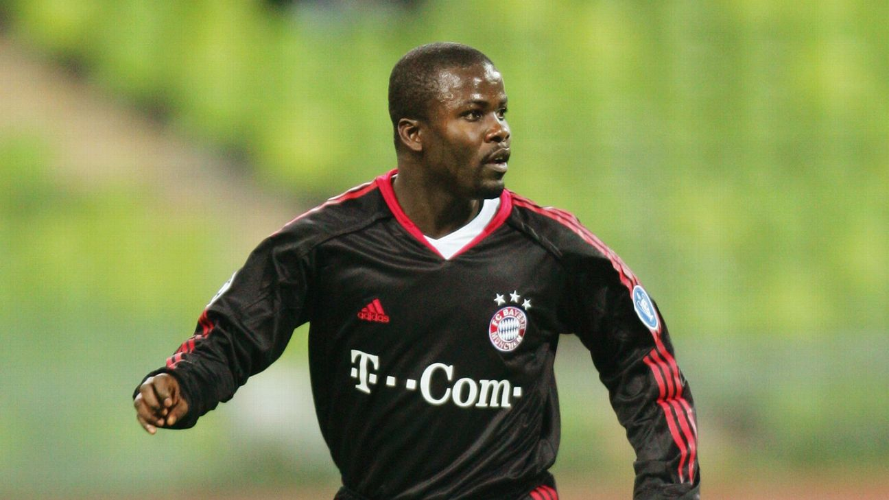 Sammy Kuffour played at the heart of Bayern Munich's defence for 12 years.