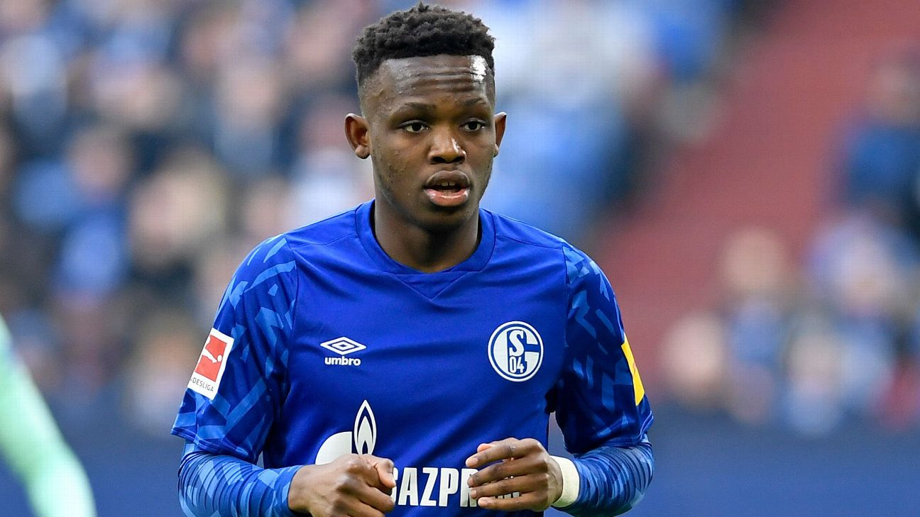 Rabbi Matondo of FC Schalke 04 looks on during the Bundesliga match between FC Schalke 04 and TSG 1899 Hoffenheim