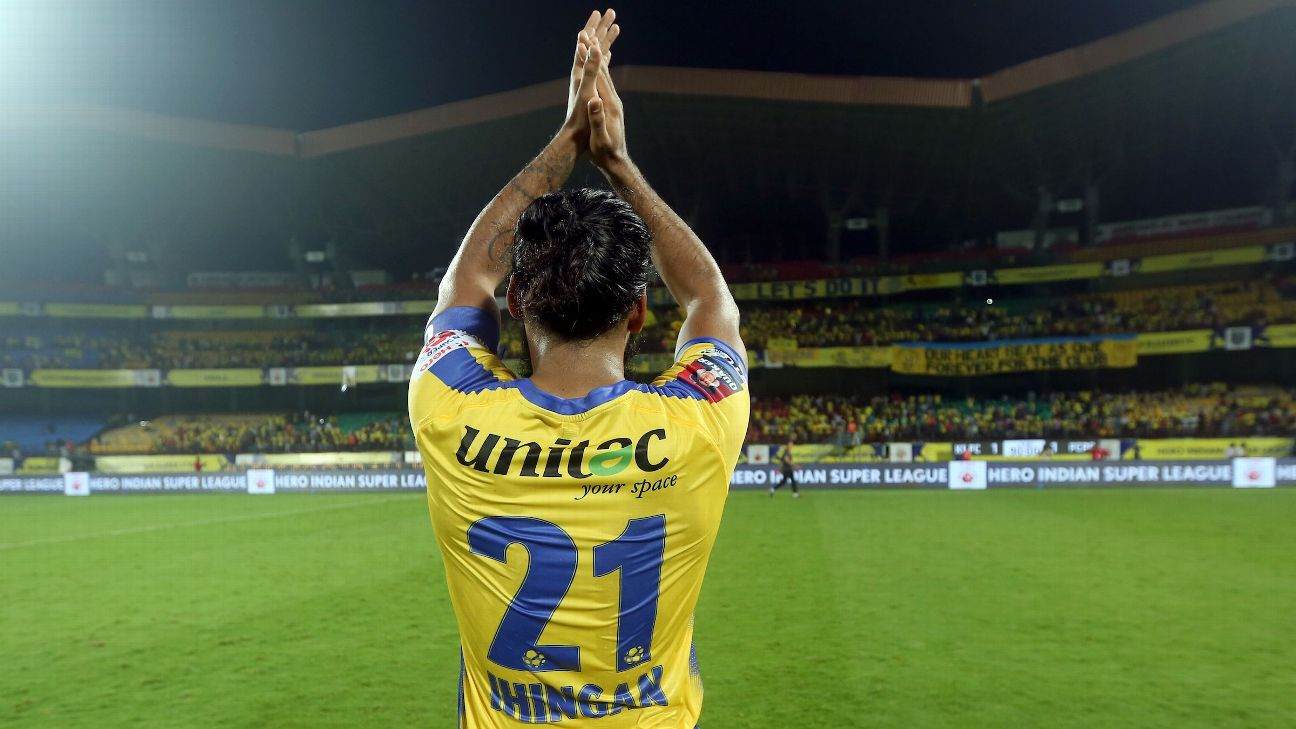 Sandesh Jhingan made 76 appearances for Kerala Blasters in the ISL.