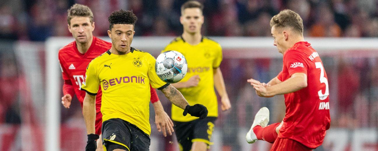Follow live: Borussia Dortmund, Bayern Munich meet in battle of Bundesliga's top-two teams