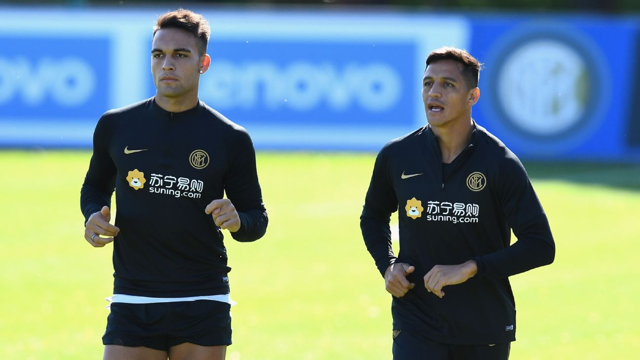 Lautaro Marti­nez and Alexis Sanchez, Inter