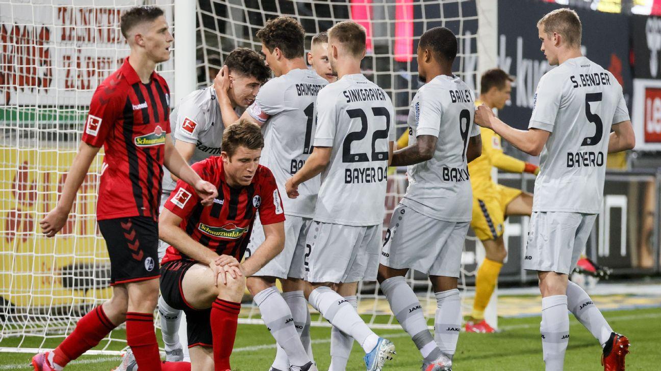 Leverkusen celebrate