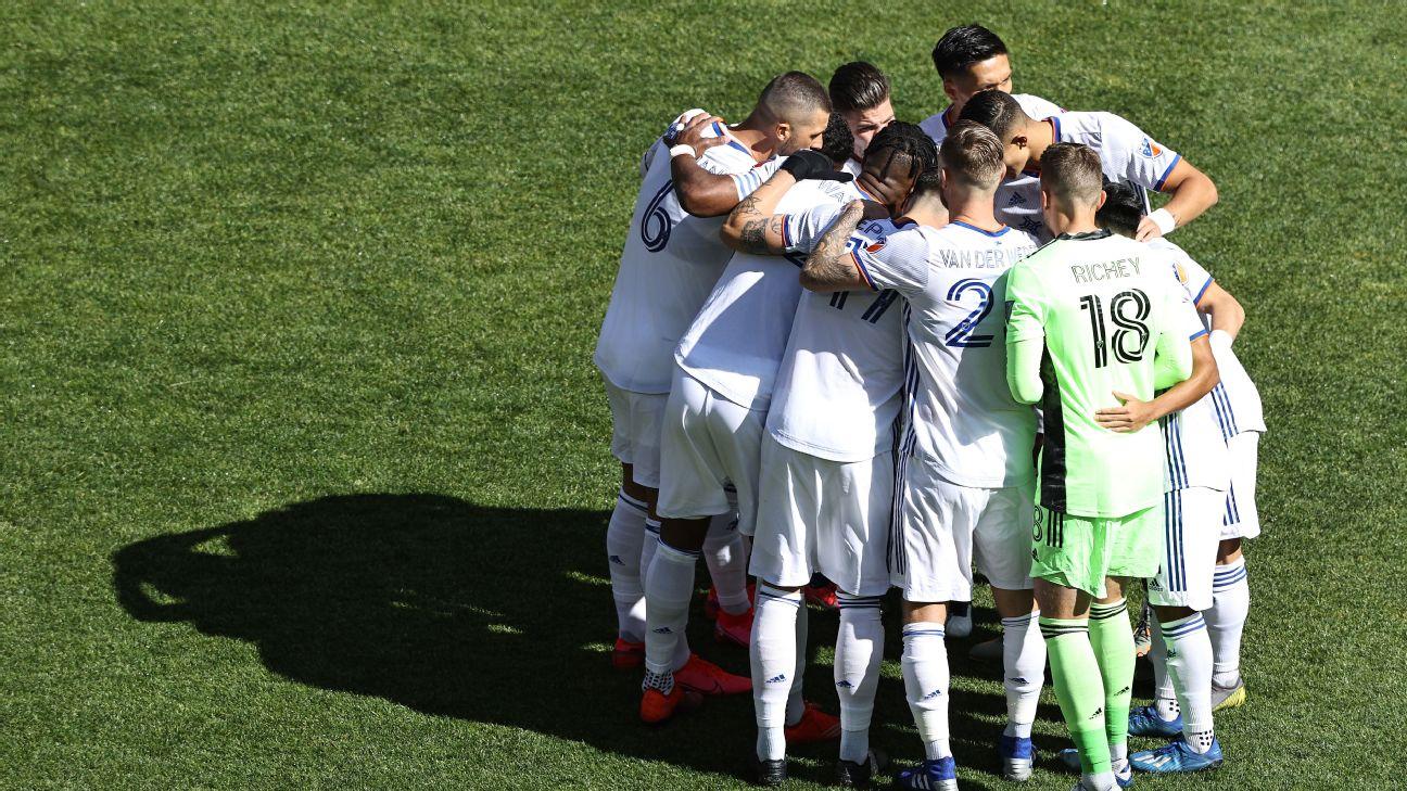 FC Cincinnati huddle