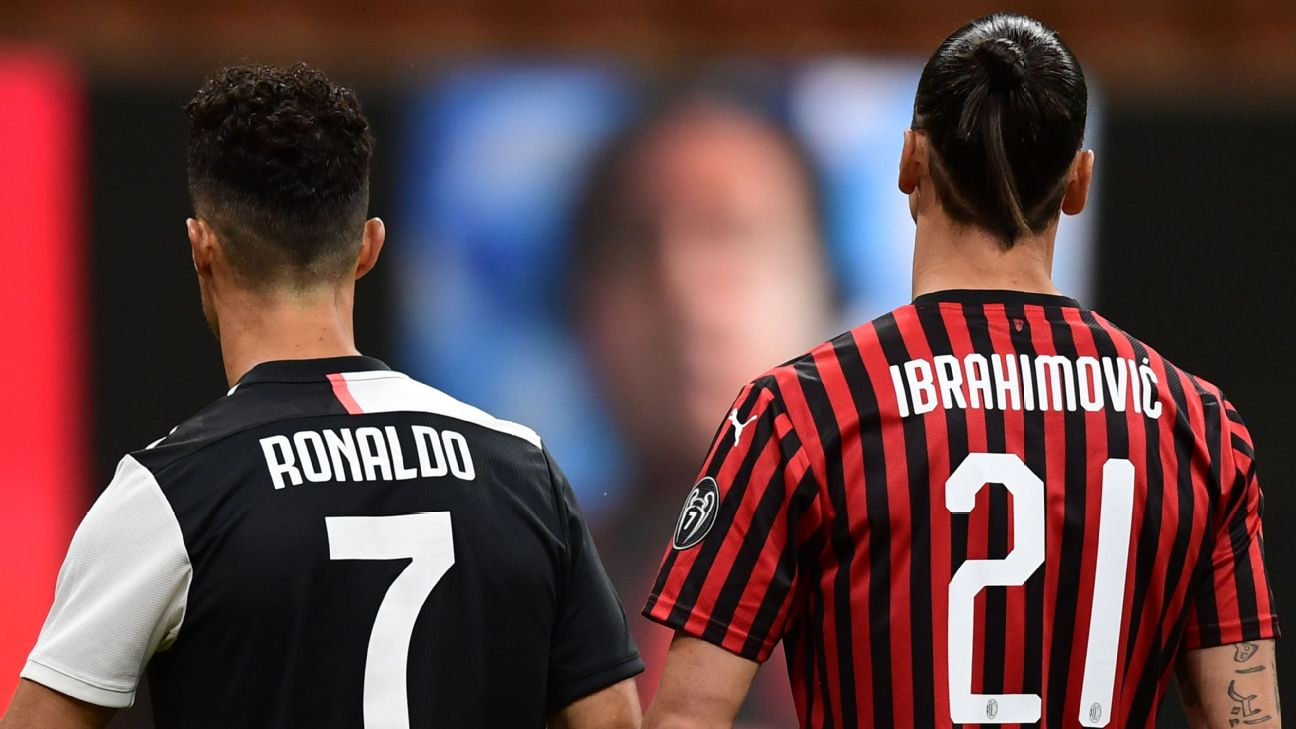 Ronaldo vs. Ibrahimovic: Juventus star shows off new haircut, but Milan striker wins what could be their last battle