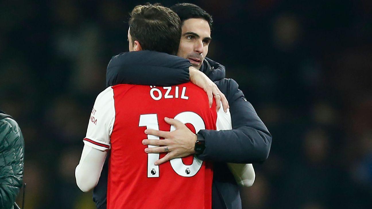 Ozil exclusion for 'pure football reasons' - Arteta