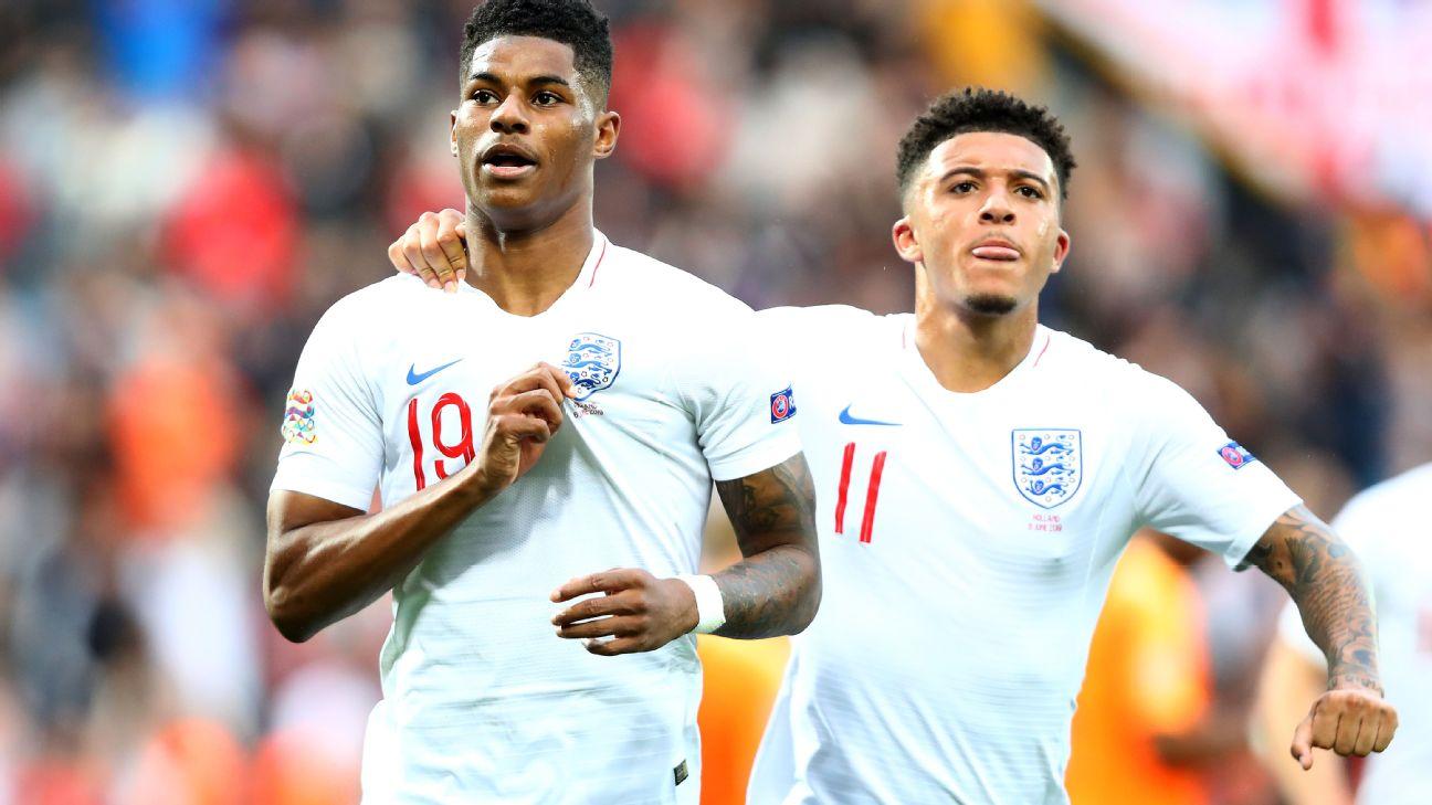 Sancho y Rashford lideran la ola inglesa de menos de 23 años que están valorados en millones