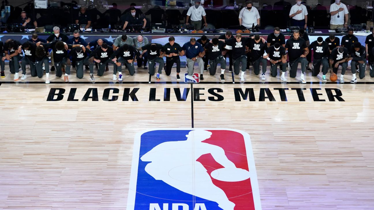 Jazz Pelicans Coaches And Refs Kneel During National Anthem As Nba Returns
