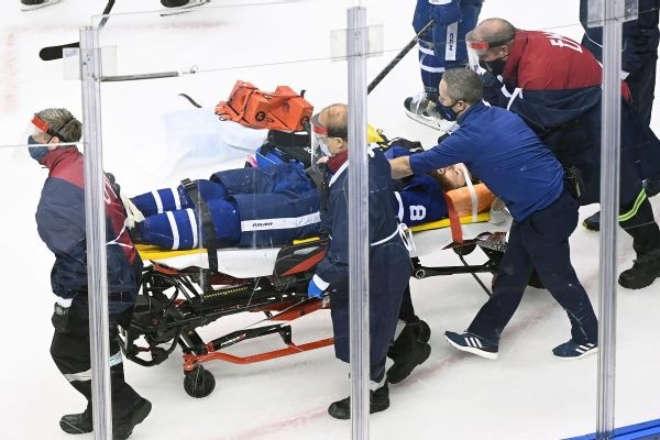 Maple Leafs' Muzzin out of hospital after collision