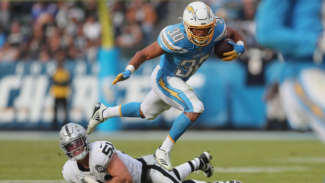 Newly extended Chargers RB Austin Ekeler reflects on undrafted past