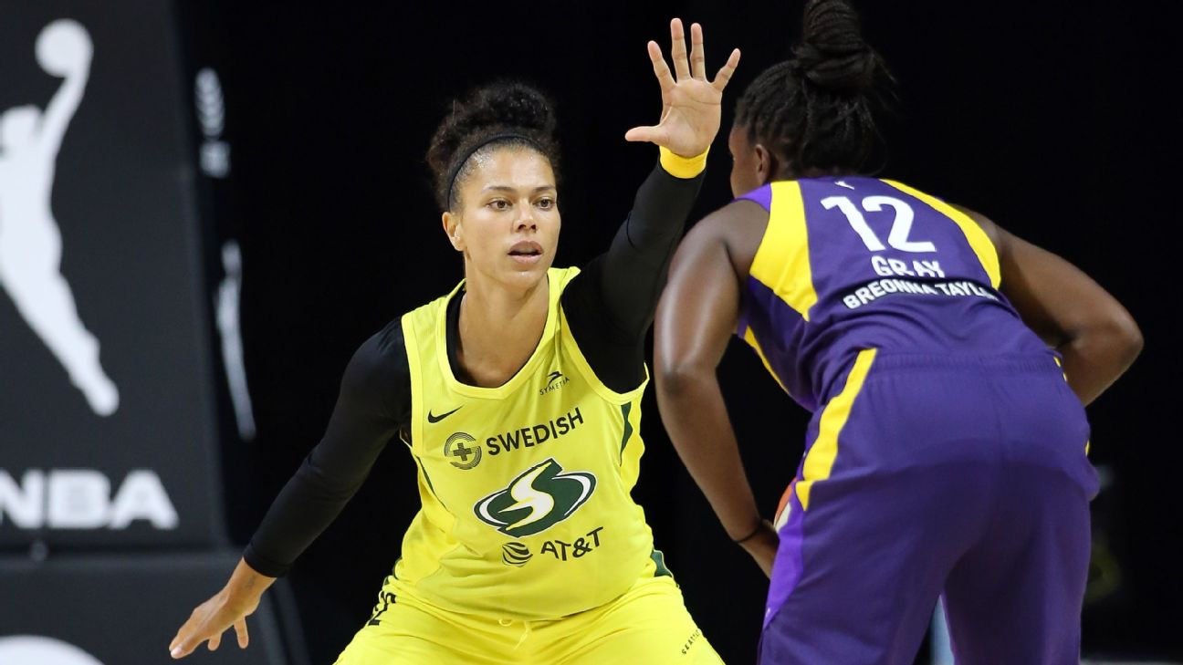 Seattle Storm's Alysha Clark unanimous choice for WNBA's all-defensive first team