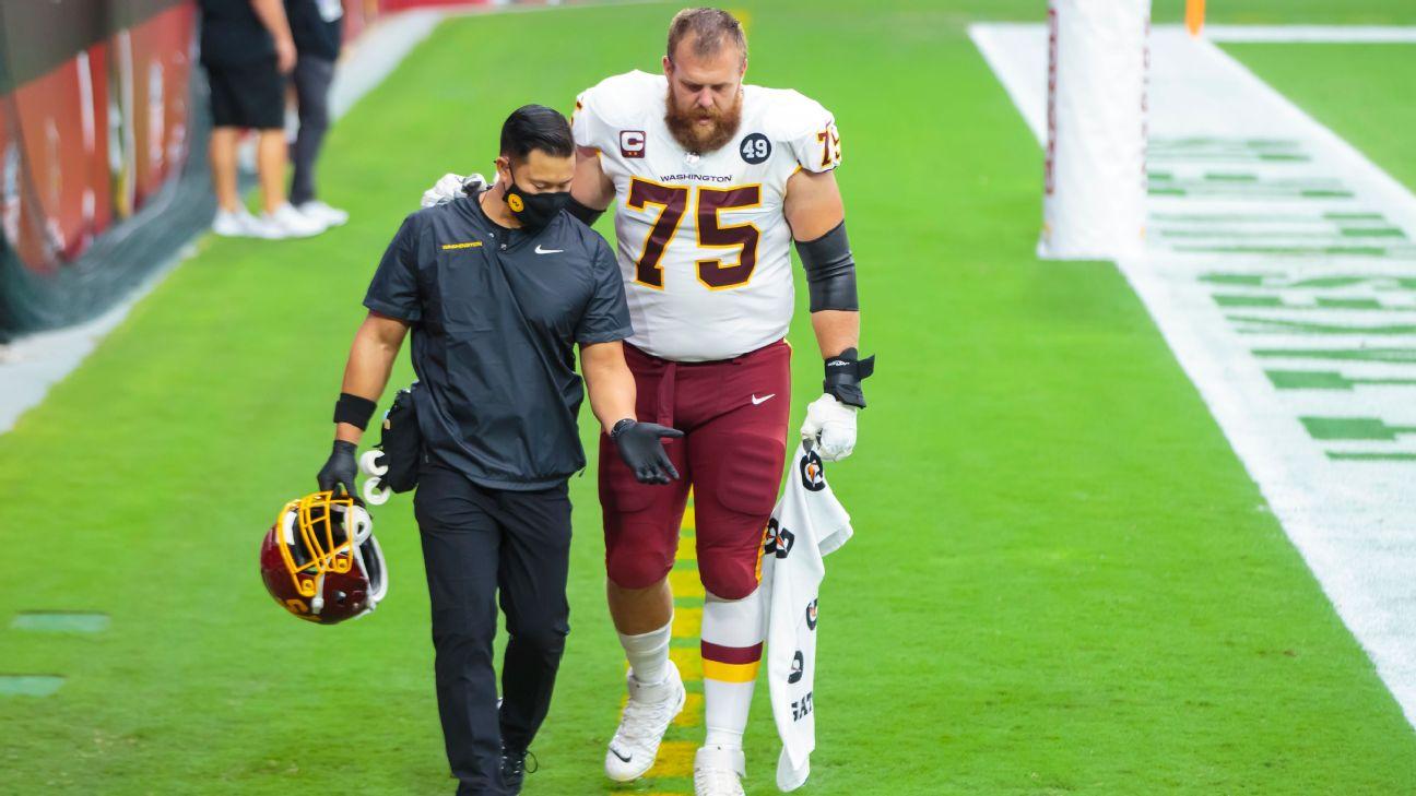 Washington Football Team puts top O-lineman Brandon Scherff on IR ...