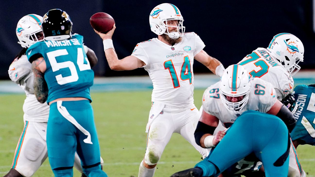Ryan Fitzpatrick Enters Record Book In Leading Miami Dolphins Over Jacksonville Jaguars