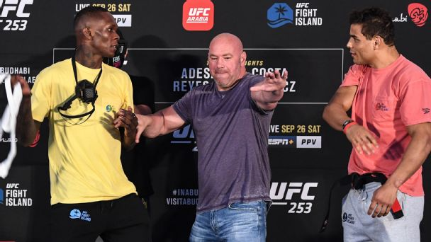 UFC 253 Israel Adesanya vs. Paulo Costa: Live updates and results from Fight Island