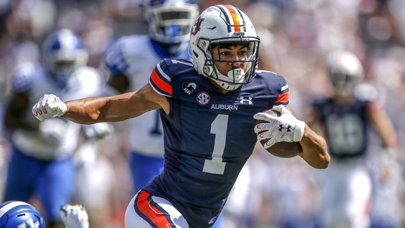 Auburn receiver Anthony Schwartz leaving Tigers early for NFL draft