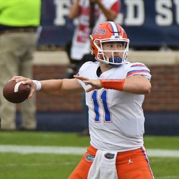 Florida's Trask tosses 6 TDs to tie Burrow's mark