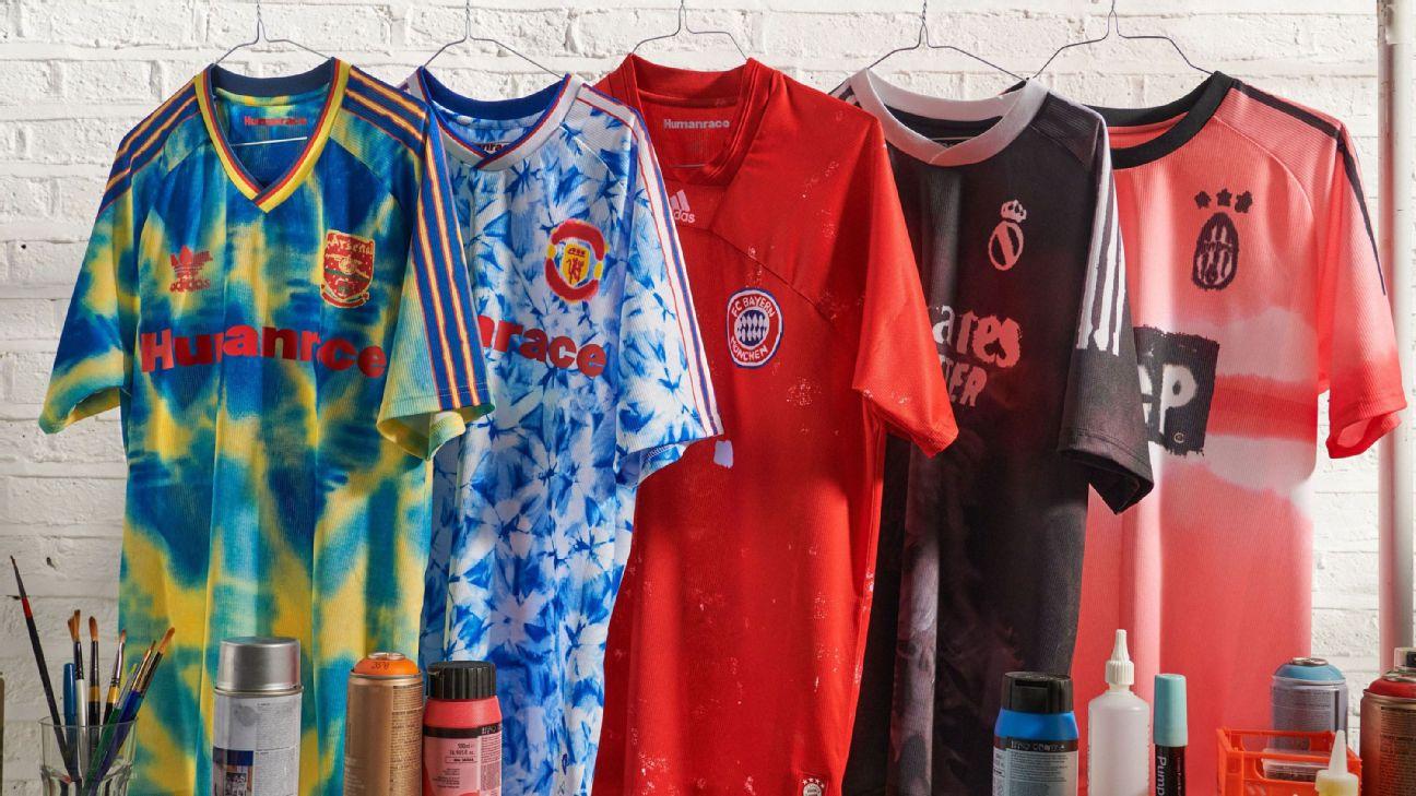 man united arsenal juventus real bayern get adidas kit makeover via pharrell williams adidas kit makeover via pharrell williams