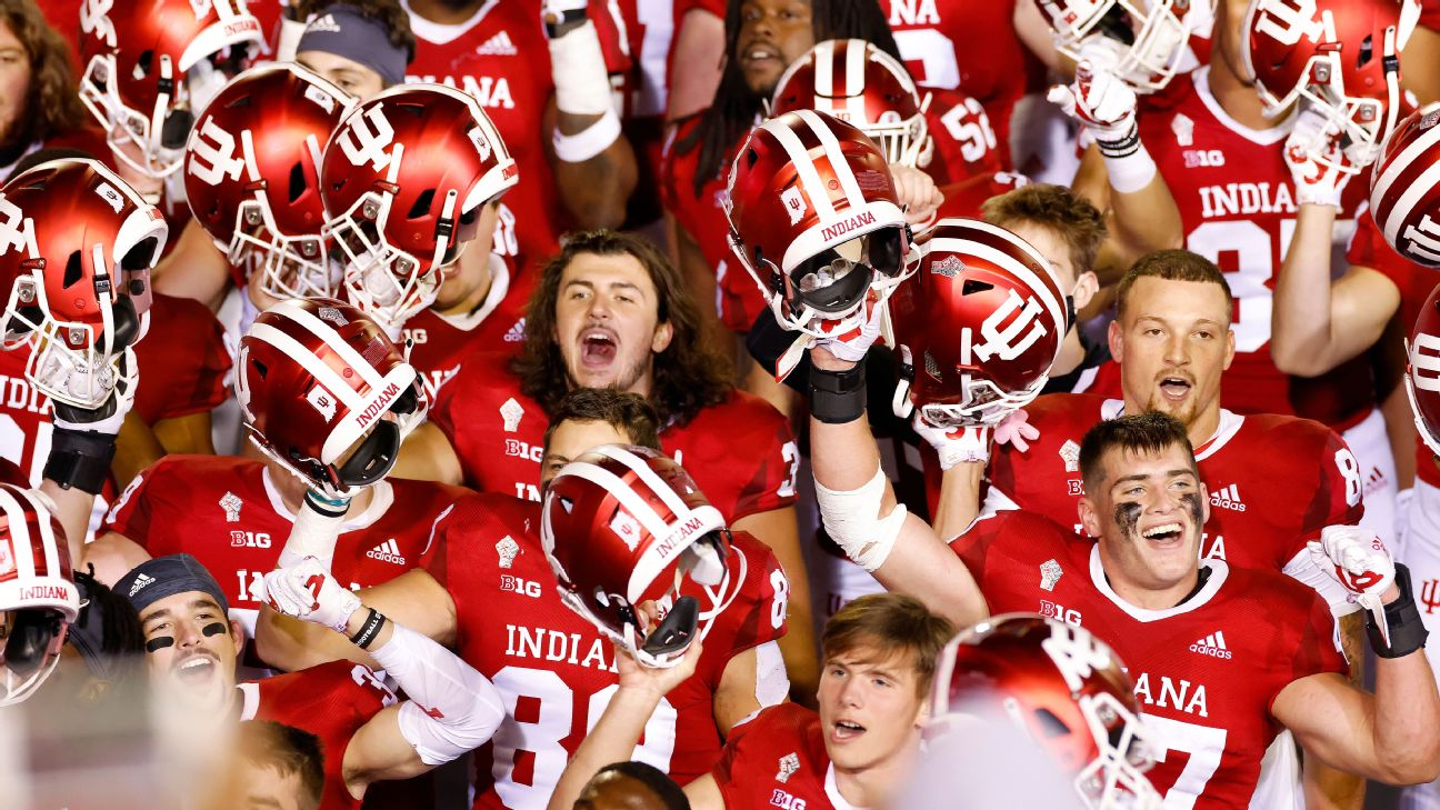 Indiana Hoosiers Move Up Set For Top Showdown Vs Ohio State Buckeyes
