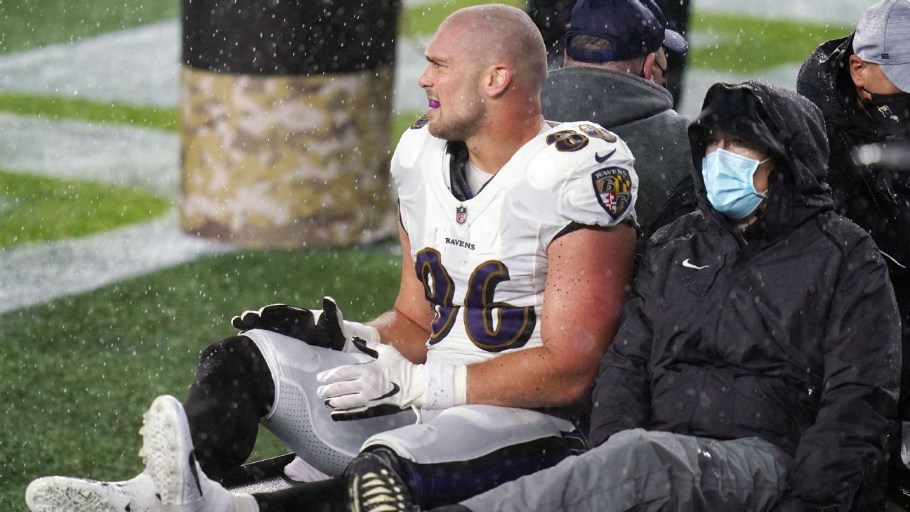 Baltimore Ravens Te Nick Boyle Suffers Season Ending Knee Injury