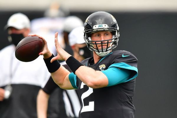 Jaguars QB Glennon to make 1st start since '17