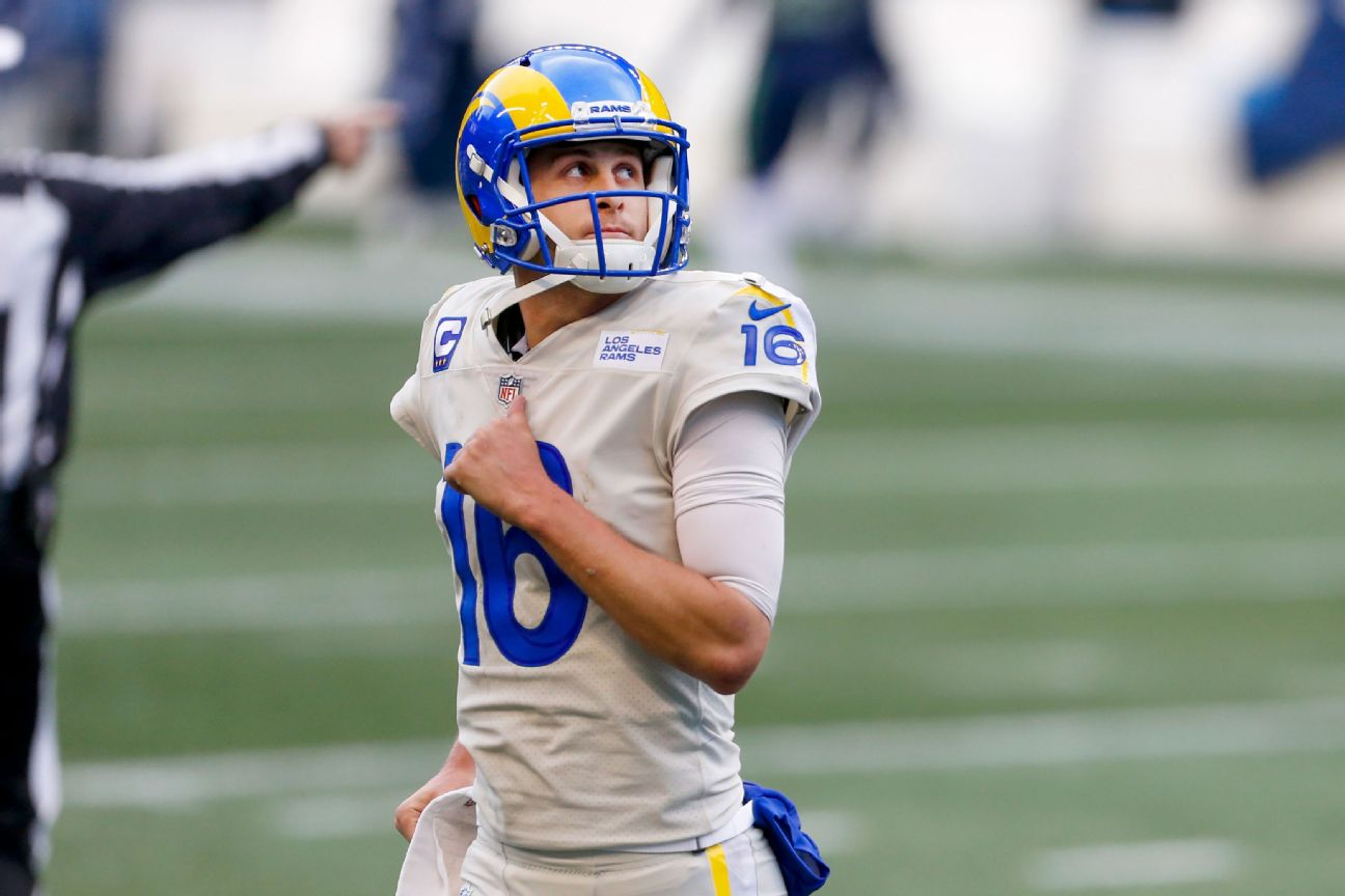 Rams' Wolford ruled out; Goff to start vs. Packers