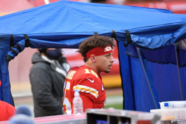 Mahomes still practicing ahead of AFC title game