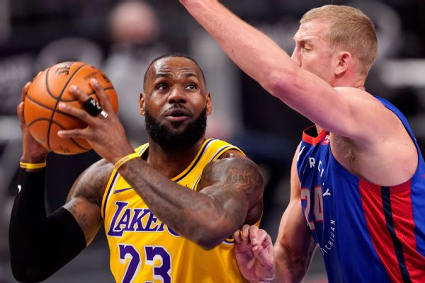 LeBron, Lakers take stock after collapse in Detroit