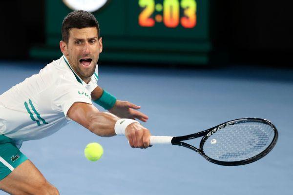 Djokovic wins 300th GS match, reaches quarters