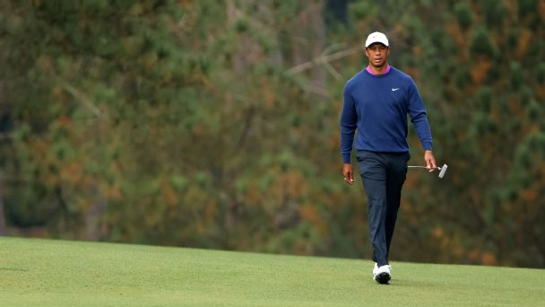 The moments before and after everything changed for Tiger Woods