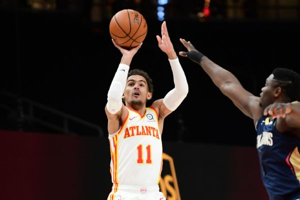 Hawks' Young diagnosed with lateral ankle sprain