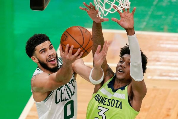 Tatum youngest Celtic to drop 50, passing Bird
