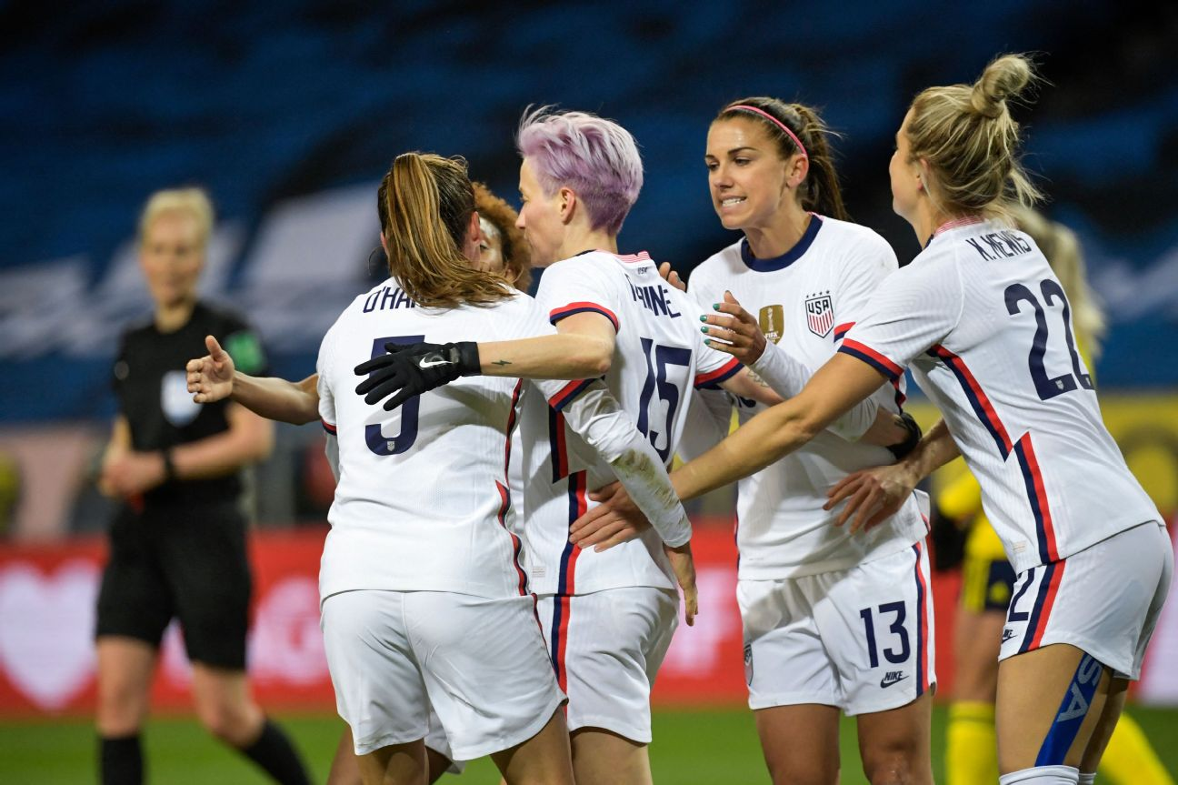 USWNT win streak ends at 16 in draw vs. Sweden