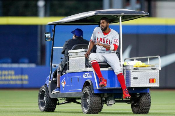 Angels' Fowler out for season after tearing ACL