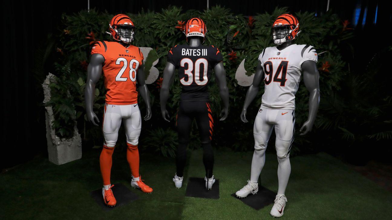 Cincinnati Bengals unveil new jerseys for first time since 2004