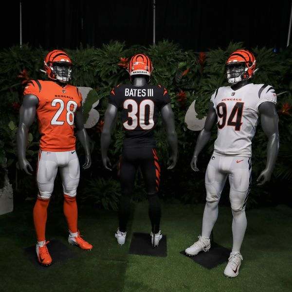 Changing stripes: Bengals show off new jerseys