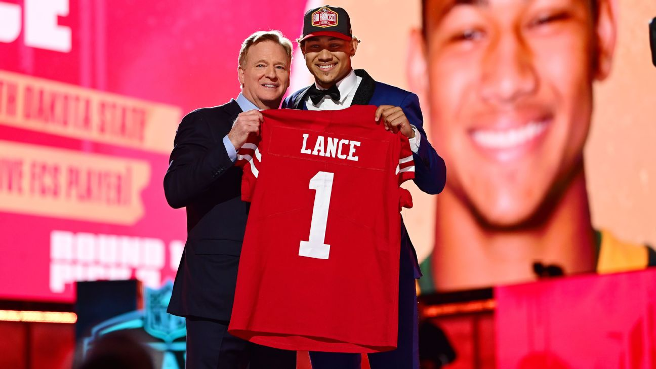 Betting market surged ahead of Trey Lance pick by San Francisco 49ers in  NFL draft