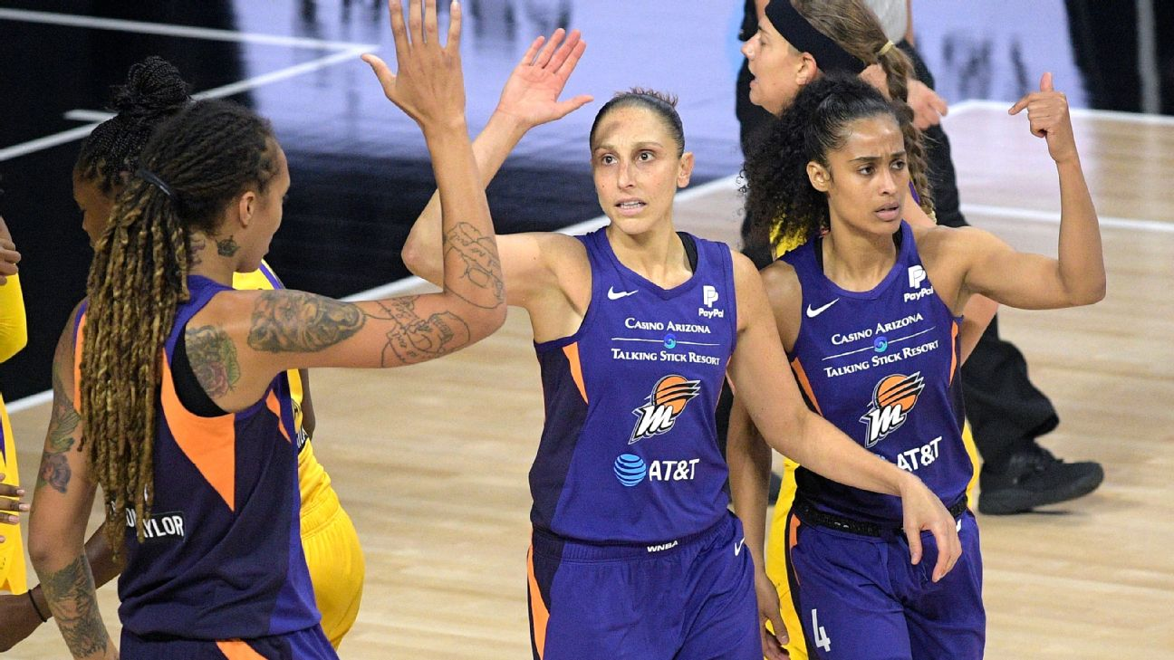 Diana Taurasi feels good about chemistry with superstar teammates Brittney  Griner, Skylar Diggins-Smith