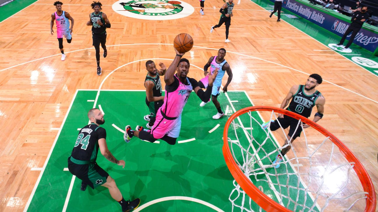 NBA playoff watch - Miami Heat put the Boston Celtics on the brink of the play-in tournament - ABC7 San Francisco