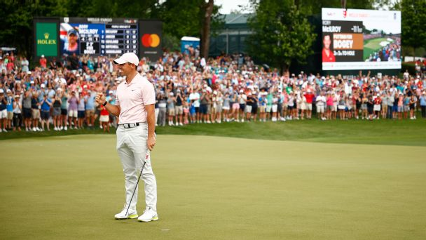 With a gallery around, Rory McIlroy found Rory McIlroy