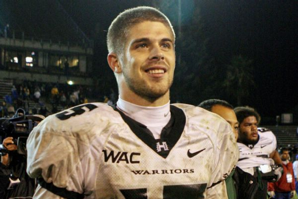 Ex-Hawai'i record-setting QB Brennan dead at 37