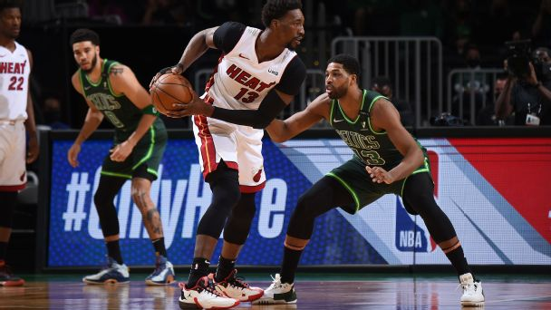 NBA playoff watch: Heat clinch and Celtics get closer to play-in spot