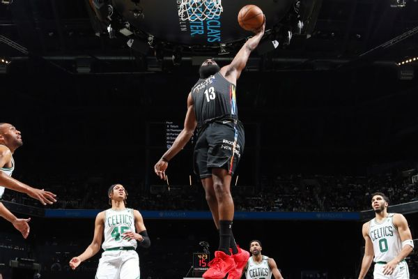 Nets' Harden still sidelined, but 'closer' to return