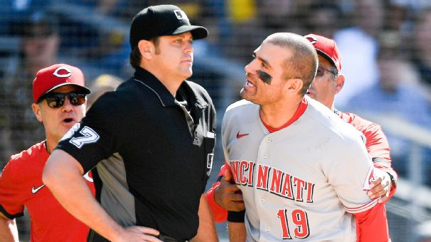 After Votto was ejected, he still made a young fan's first time at the ballpark memorable
